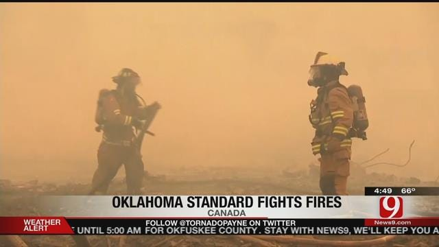 Oklahoma Volunteers In Canada To Help Wildfire Victims