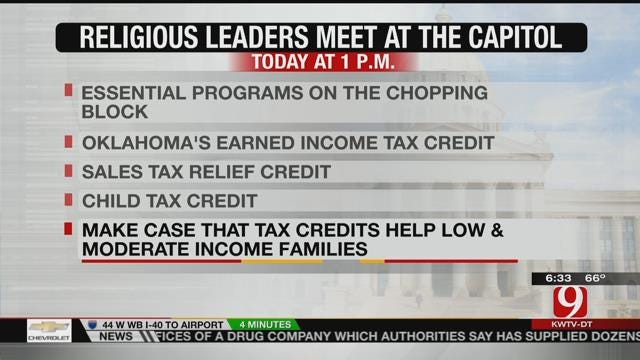Religious And Nonprofit Leaders To Meet At Capitol About Tax Credits
