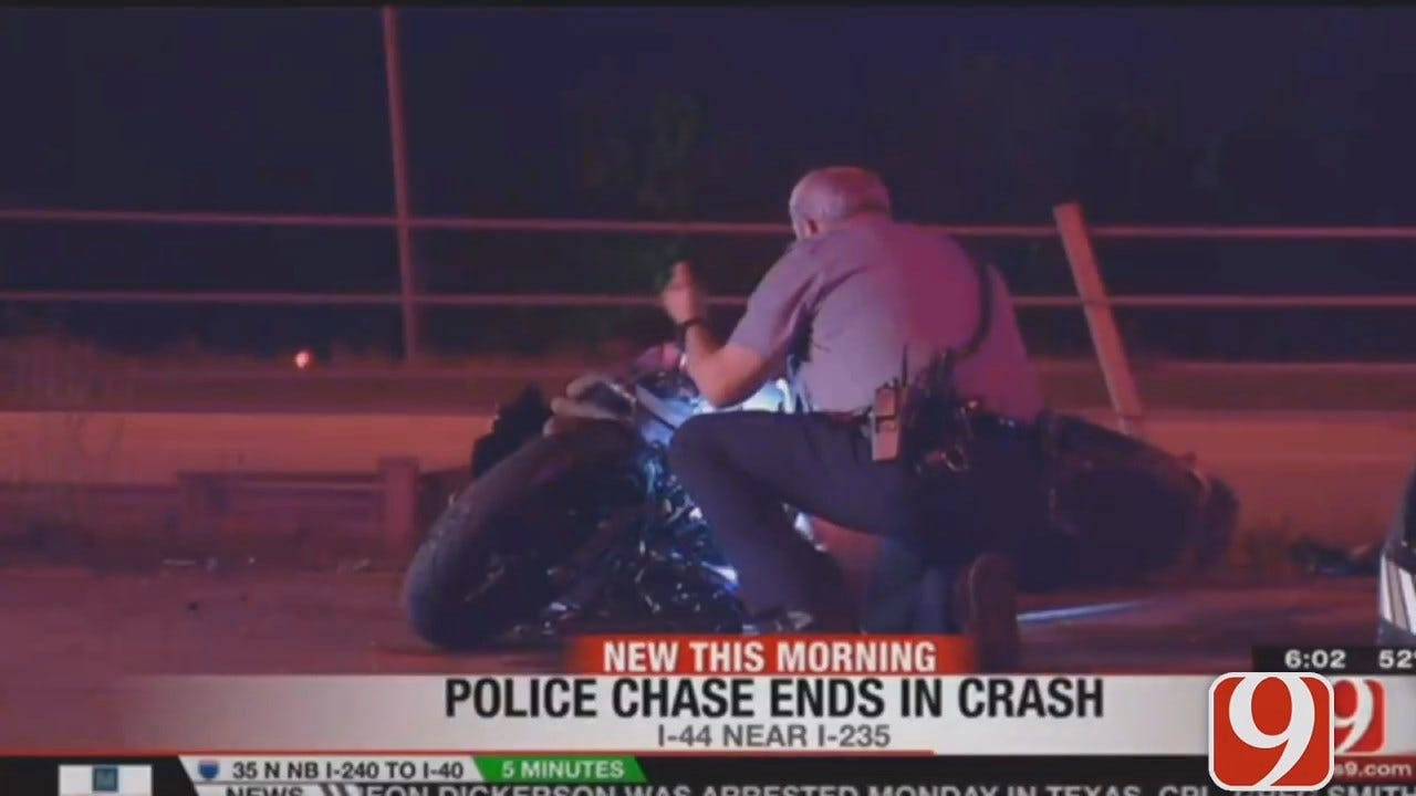 Motorcyclist Leads Police On High-Speed Chase Through OKC