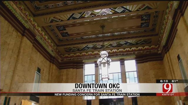 Restoration Of Downtown OKC's Old Santa Fe Train Station In Jeopardy