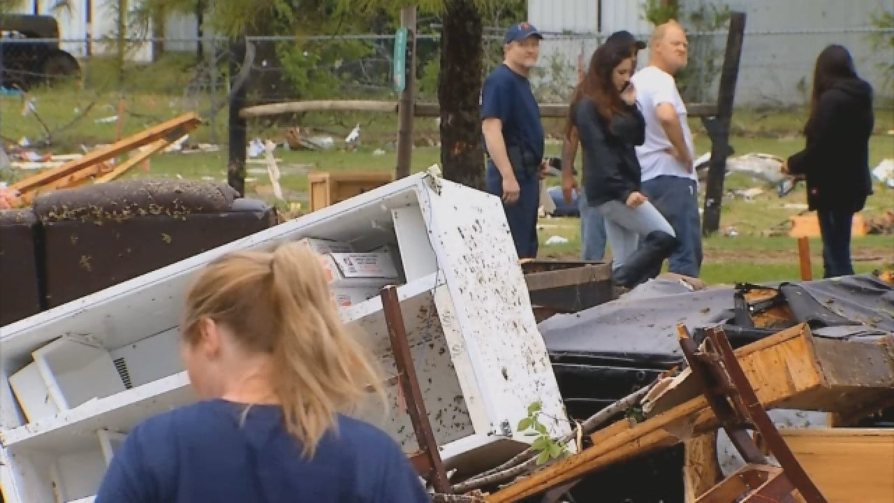 Families Dealing With Aftermath Of Ninnekah Tornado