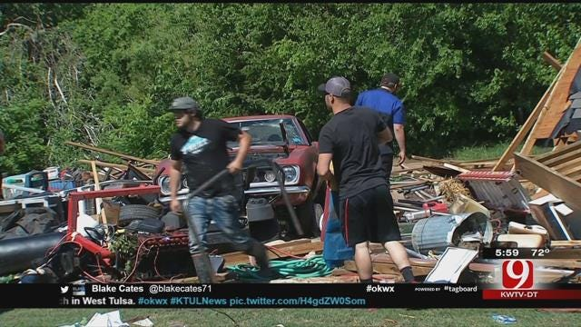 Mustang Residents Clean Up After EF-0 Tornado