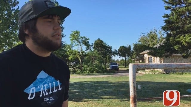 WEB EXTRA: Mustang Family Speaks To News 9 About Storm Damage