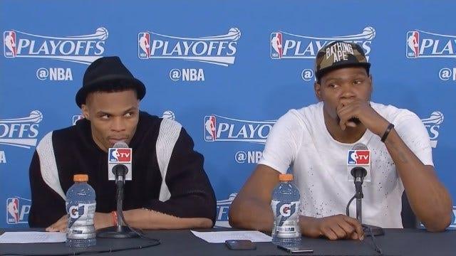 Durant & Westbrook Postgame After Closing Out Mavericks
