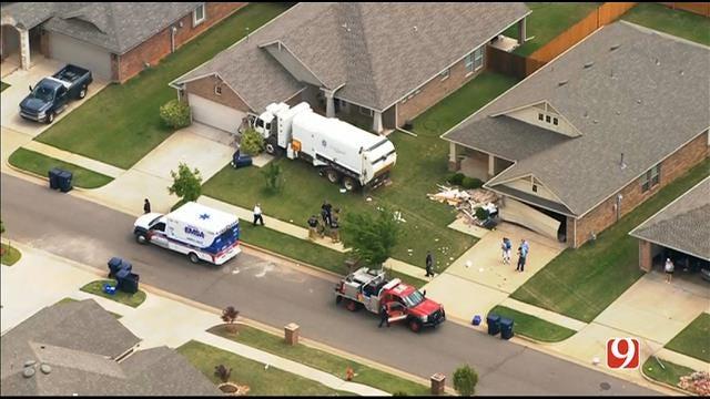 WEB EXTRA: SkyNews 9 Flies Over Crash Involving Trash Truck Into Homes