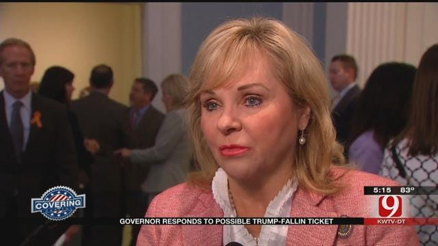 Fallin Responds After Being Mentioned As A Possible Candidate For Trump's VP