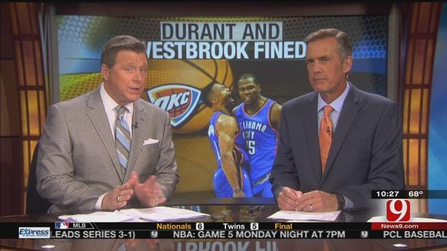 Durant, Westbrook Fined For Actions Against Mavs