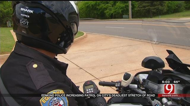 Edmond Police Increasing Patrol On City's Deadliest Stretch Of Road