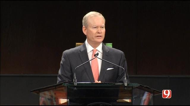 WEB EXTRA: OKC Mayor Mick Cornett Speaks During Remembrance Ceremony