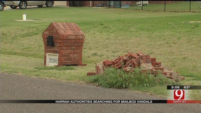 Harrah Mailbox Vandal Facing Felony Offense