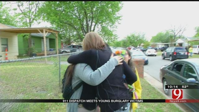 911 Dispatcher Meets Two Young Burglary Victims