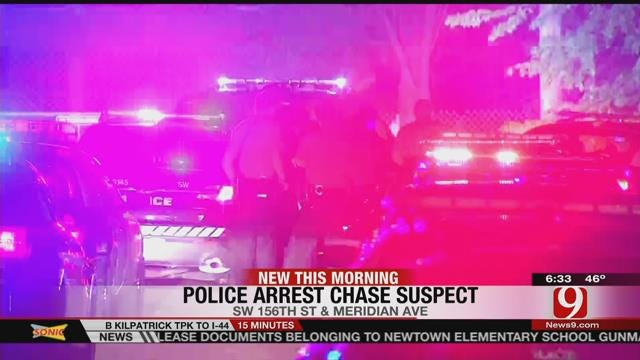 Man Arrested After Leading Police On Chase Through OKC