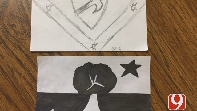 WEB EXTRA: Dove Science Academy Students Recreating OKC Flag