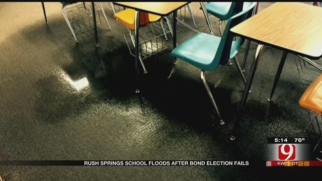 Rush Springs School Floods Day After Voters Kill Bond For New Building