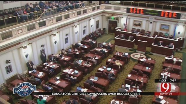 State Educators Criticize Lawmakers Over Budget Crisis