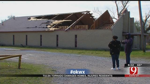 Tulsa Tornado Damages Homes, Church, And Injures Residents