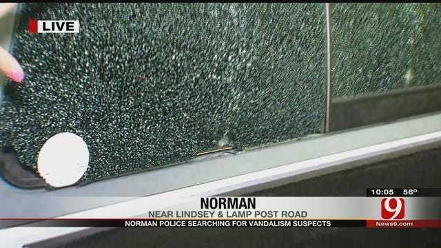 Norman Police Search For Vandals