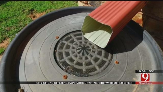City Of Oklahoma City Offering Rain Barrel Partnership With Other Cities