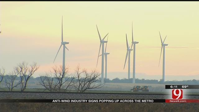 Anti-Wind Industry Signs Popping Up Across The Metro