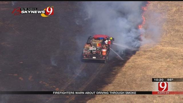 Firefighters Warn Drivers Against Driving Through Smoke