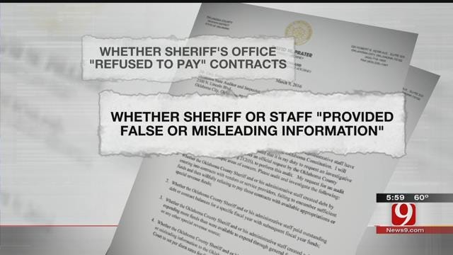 District Attorney Requests Investigative Audit Of Oklahoma County Sheriff's Office