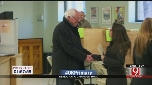 Sanders Battles Clinton For Oklahoma