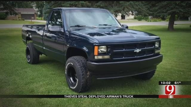 Deployed Airman's Pickup Stolen From Gated Apartment Complex