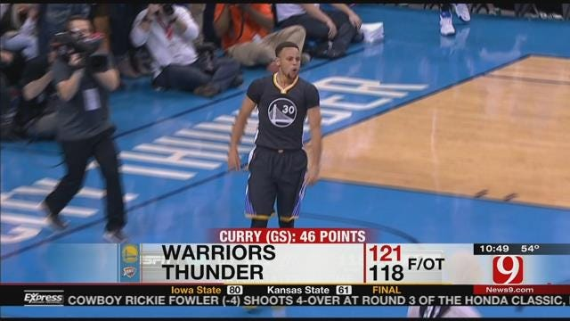 Curry Stuns Thunder In OT With Game-Winner