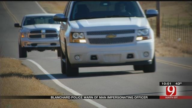 Blanchard Police Warn Of Man Impersonating Officer