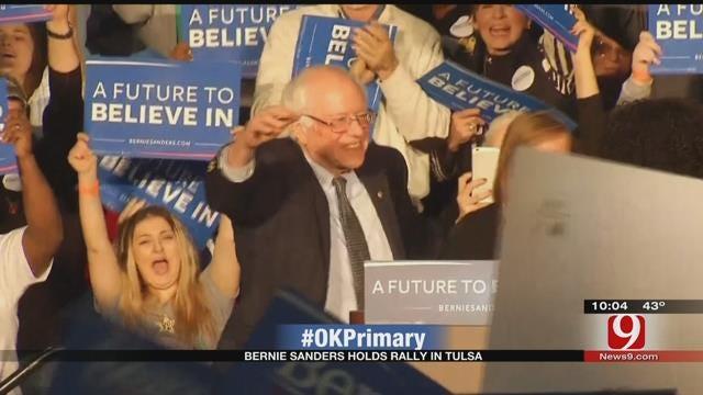 Democratic Presidential Candidate Bernie Sanders Holds Tulsa Rally
