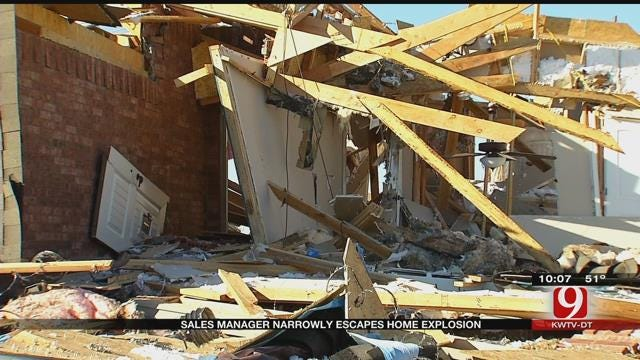 Sales Manager Narrowly Escapes Home Explosion