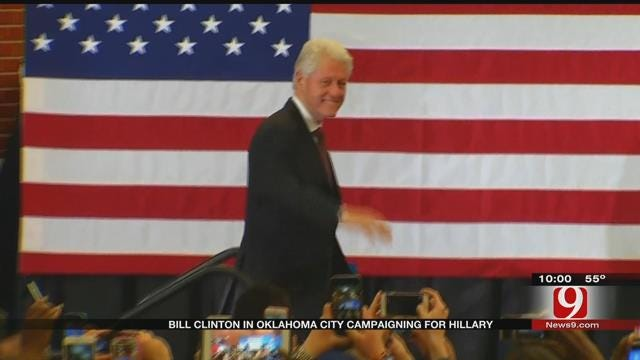 Bill Clinton Campaigns For Hillary At 'Get Out The Vote' Event In OKC