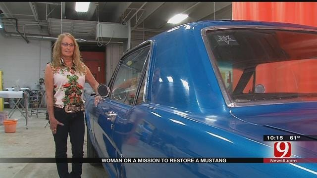 Grady County Woman On Mission To Restore A Mustang