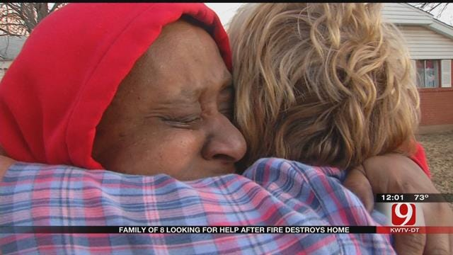 News 9 Viewer Helps Woman, Children Who Escaped House Fire