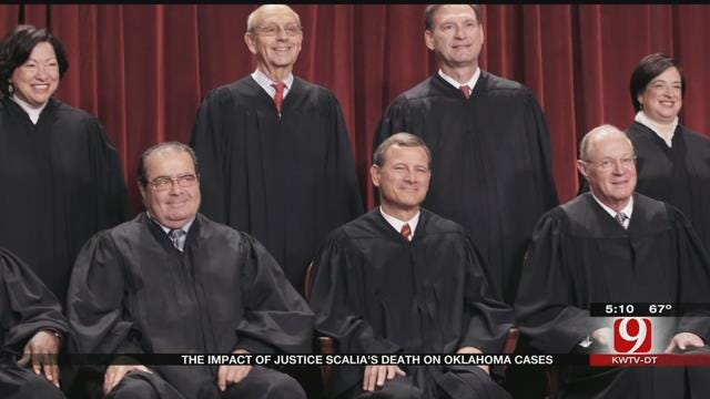Death Of Supreme Court Justice Scalia Could Affect Oklahoma Cases