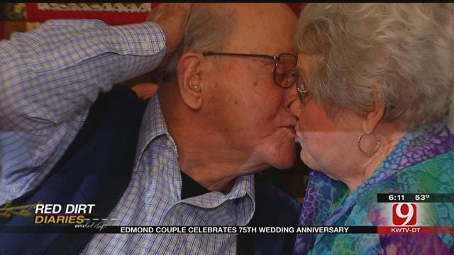 Red Dirt Diaries: Edmond Couple Celebrates 75th Wedding Anniversary