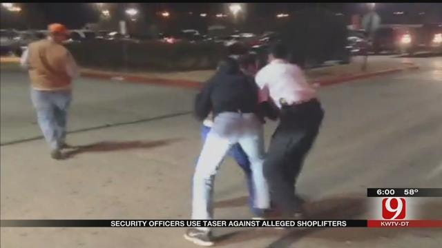 Security Officers Use Taser Against Alleged Shoplifters At Metro Grocery Store