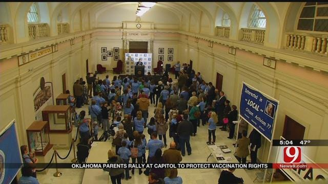 Parents Rally At State Capitol For Vaccination Choice