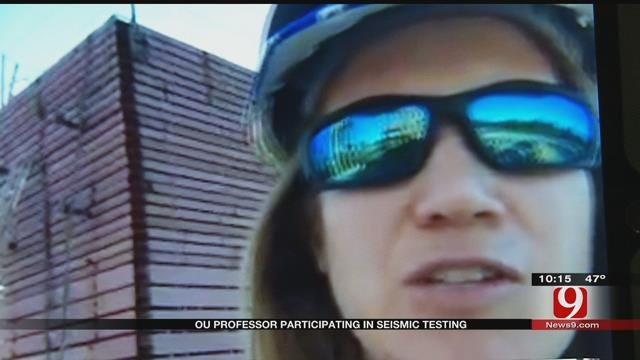 OU Professor Participating In Seismic Testing