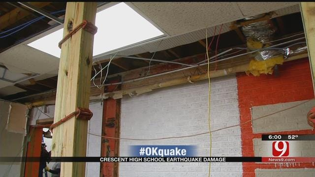 Construction Ongoing After Crescent Public Schools Damaged By Earthquakes