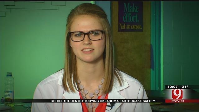 Bethel Students Studying Oklahoma Earthquake Safety