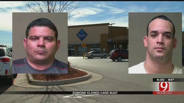 Edmond Police Bust Two Suspects In Stolen Credit Card Scam