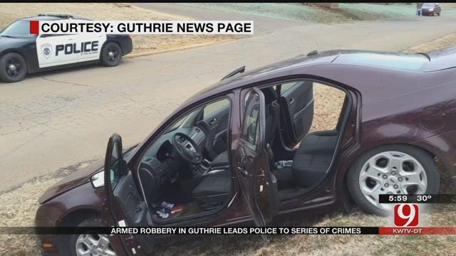 Armed Robbery In Guthrie Leads Police To Juvenile Crime Spree