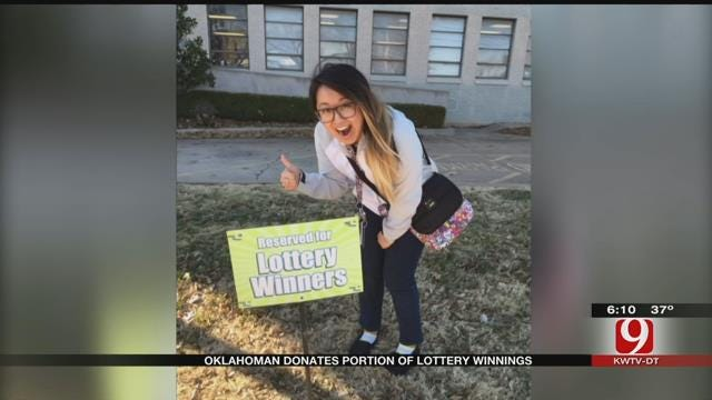 Lawton Woman Donates Powerball Winnings To Charity