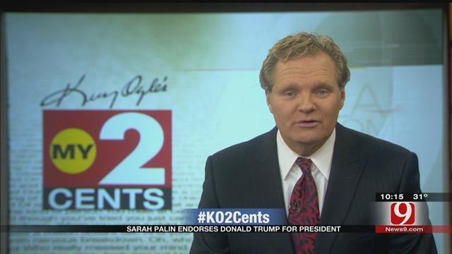 My 2 Cents: Sarah Palin Endorses Donald Trump
