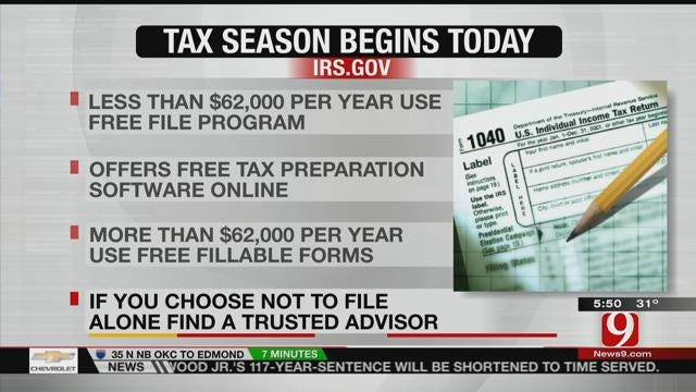 Tax Season Begins Today