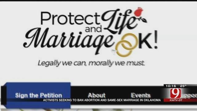 Group Leads Effort To Ban Abortion, Same-Sex Marriage In OK
