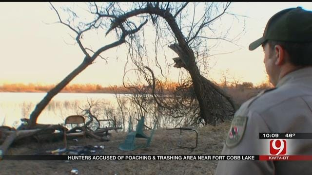 Hunters Accused Of Poaching, Trashing Area Near Fort Cobb Lake