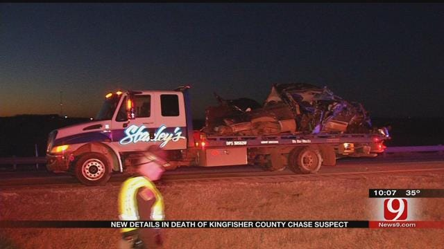 Chase In Kingfisher County Ends In Fatal Crash