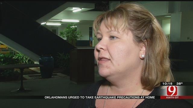 Oklahomans Urged To Take Earthquake Precaution